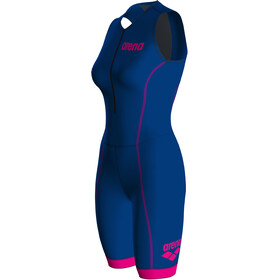 arena Tri Suit ST 2.0 Front Zip Swimsuit Women royal/pink